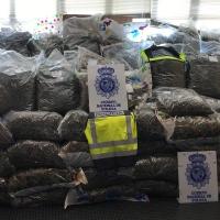 Intervienen 355 kilos de marihuana cuando iban a venderla a un grupo de narcos