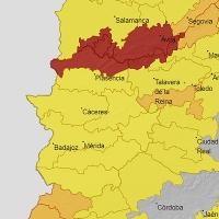 Activan la alerta roja en el norte de la provincia de Cáceres por lluvias