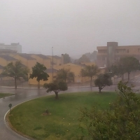 Vídeo de la breve e intensa tormenta que ha pasado por Badajoz
