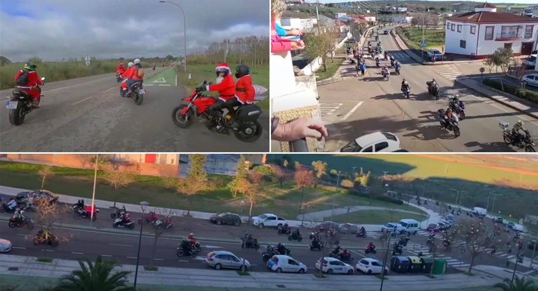 Más de 300 motoristas reparten alegría con su Cabalgata Motera por la provincia de Badajoz