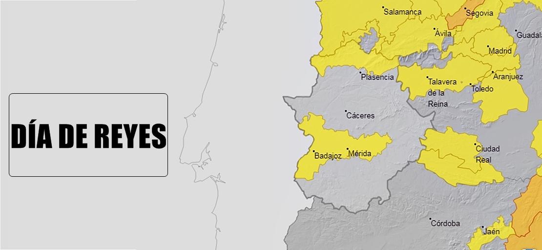 Badajoz, Mérida, Don Benito-Vva, Olivenza,… en alerta amarilla