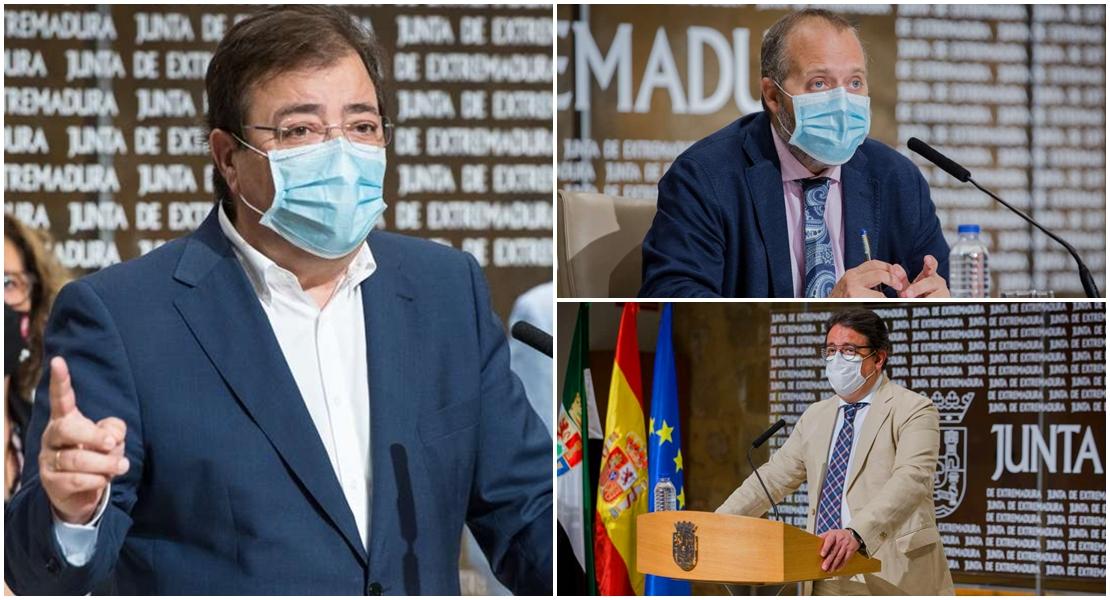 Comparecencia de Vara y consejeros para anunciar medidas frente al aumento de contagios