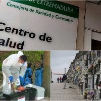 Extremadura registra 13 muertes y 1.126 contagios