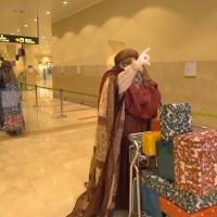 Los Reyes Magos de Oriente llegan en avión a Badajoz