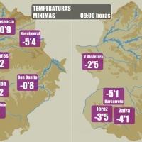 Extremadura se levanta congelada