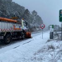 El Plan Operativo retira nieve en 156 kilómetros de carreteras extremeñas