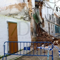 Se derrumba una vivienda en el Casco Antiguo de Badajoz