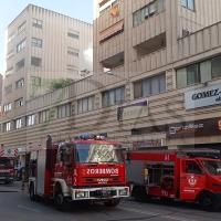Incendio en la avenida Juan Carlos I de Badajoz