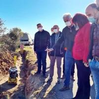 García visita las obras de mejora de la zona regable de Valdecañas