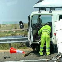 Accidente de camión en la A-66