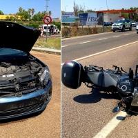 Accidente de tráfico en la N-432 a la salida de Badajoz