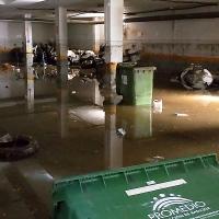 Se inunda parte del cuartel de la Guardia Civil de Zafra